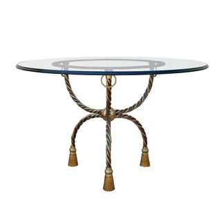 Italian Brass & Chrome Dining Table