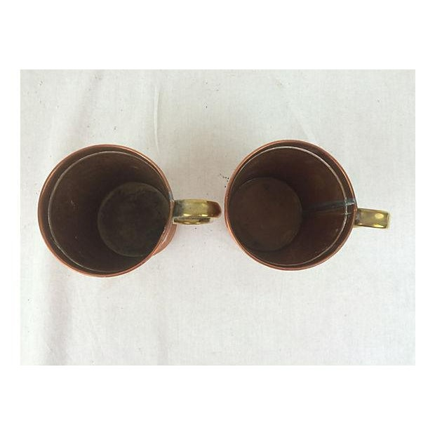 Image of English Copper and Brass Mugs - A Pair