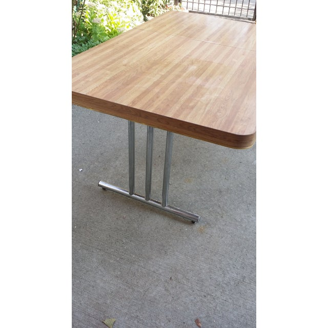 Image of Vintage 1970s Metal & Formica Top Dining Table
