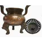 Image of Chinese Bronze Foo Dogs Graphic Incense Burner