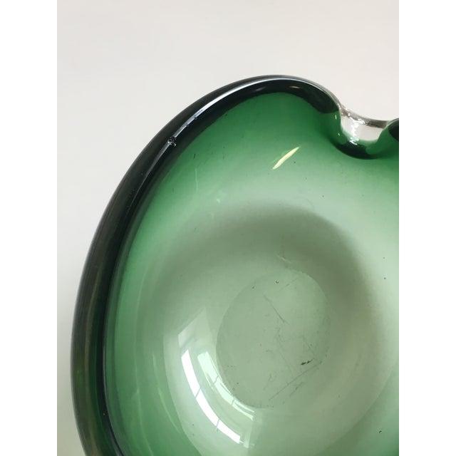 Alfredo Barbini Murano Glass Green Ashtray - Image 7 of 7