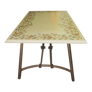 Ironies Stone Dining Table With Inlay Fruit Design