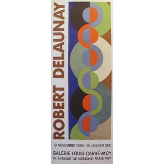 1981 Robert Delaunay Exhibition Poster, Abstract Art