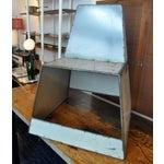 "Image of White Metal ""Shoebox"" Chair"