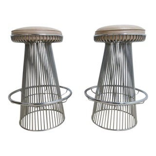 Vintage Chrome Wire Cone Bar Stools - A Pair