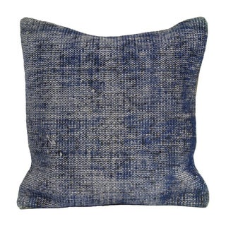 Vintage Blue Overdyed Pillow Cover