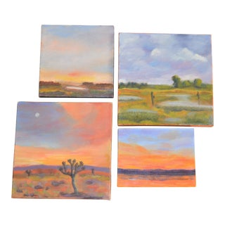 Petite Landscape Paintings - Set of 4