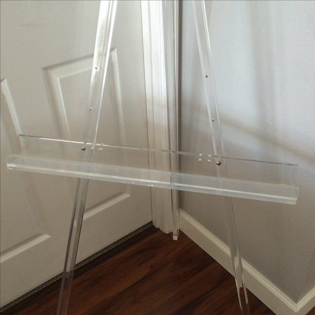 1970's Mid Century Modern Tall Lucite Art Easel - Image 6 of 7