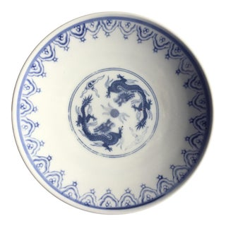 Blue and White Chinoiserie Porcelain Plate