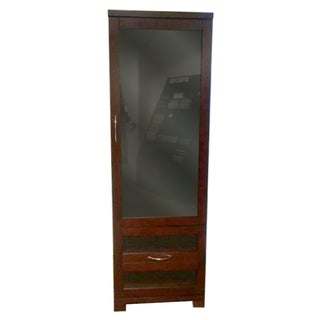 Dark Wood Lighted Display Cabinet