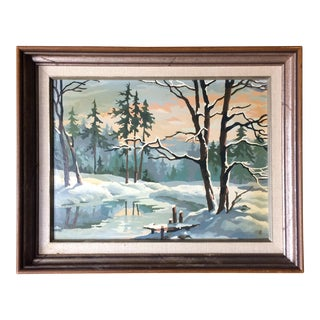 Winter Scene Paint-By-Number
