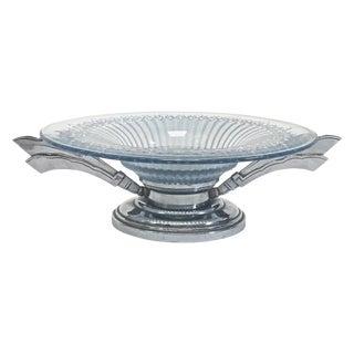 Art Deco Water Drop Splash Chrome/Cut Glass Coupe