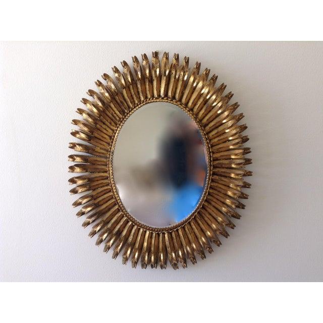 Image of Italian Gilt Hollywood Regency Oval Mirror