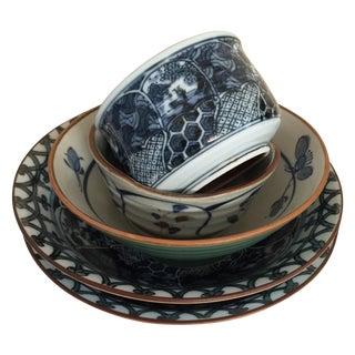 Mixed Ceramic Japanese Bowls - Set of 5