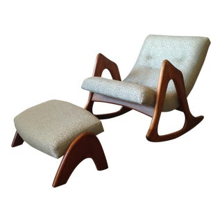 Adrian Pearsall Rocking Chair & Ottoman