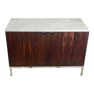 Florence Knoll Rosewood Marble Chrome Credenza
