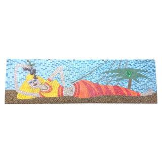 Mid-Century Mosaic Tile Mermaid Plaque