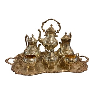 Vintage Silver Plated Tea Set - Set of 7