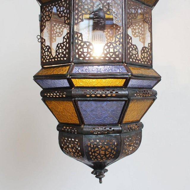 Moroccan Metal Work Lantern - Image 2 of 2