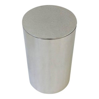 Polished Aluminium Drum Occasional Table by Paul Mayen for Habitat