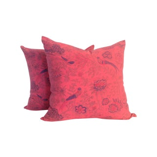 Vintage Block-Print Kantha Pillows- Pair