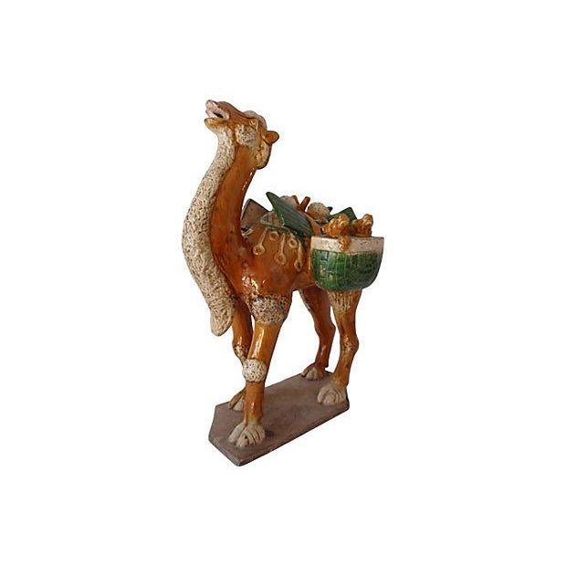 Chinese Antique Tang Style Glazed Pottery Camel - Image 6 of 6