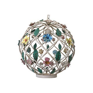 1950s Italian Lattice Pendant