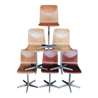German Bentwood School Chairs - Set of 6