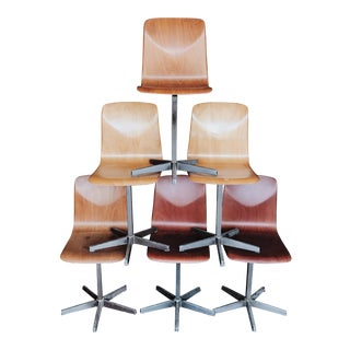 German Bentwood School Chairs - Set of 6