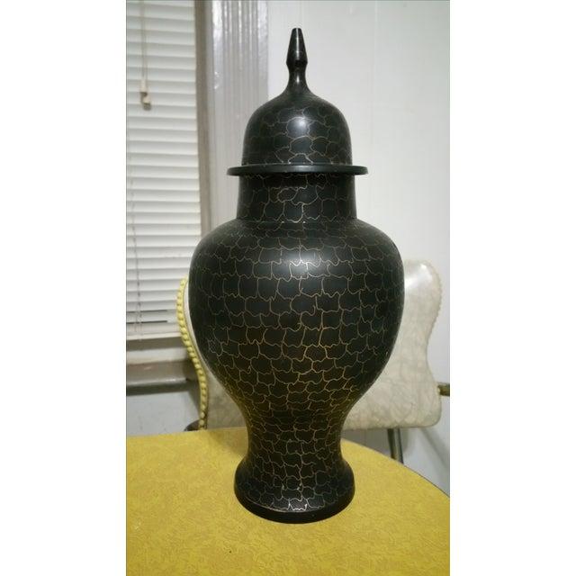 Black & Gold Brass Ginger Jar - Image 2 of 5