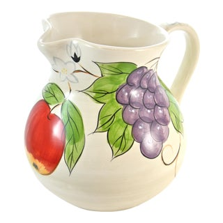 Hand Painted Grape Pitcher