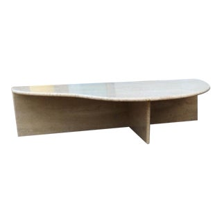 Free Form Travertine Console Table