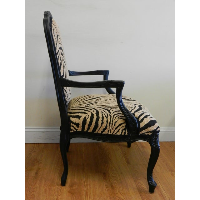 Louis XIV French Provincial Occasional Chair - Image 4 of 7