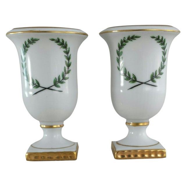 Vintage Porcelain Toothpick Holders - A Pair - Image 1 of 8