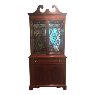 Mahogany China Cabinet with Glass Doors