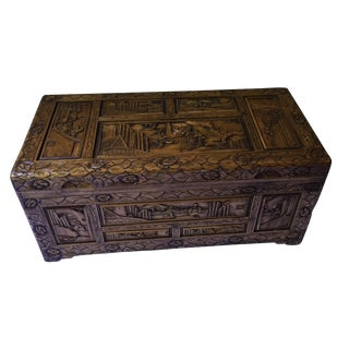 Hand-Crafted Camphor Wood Chest