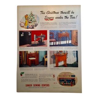 1946 Vintage Singer Sewing Ad