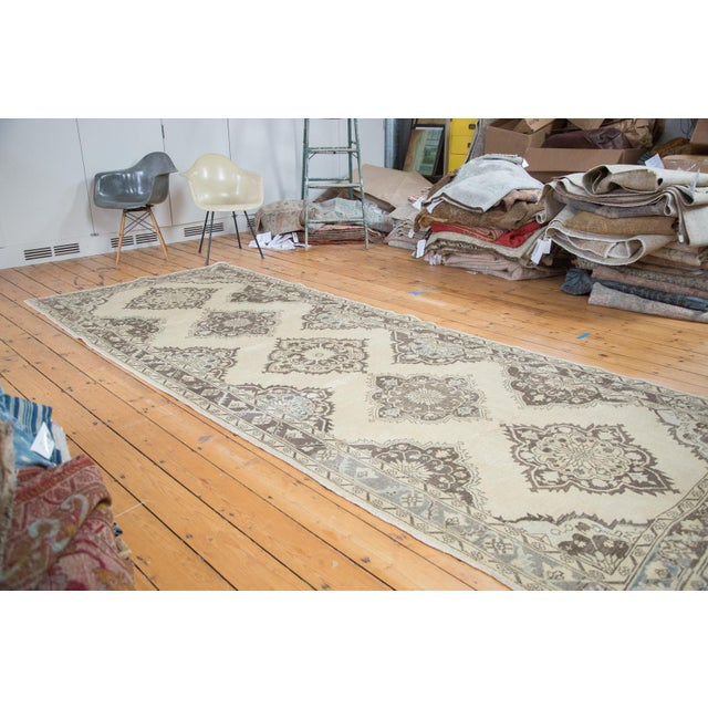 "Distressed Oushak Runner - 5' X 12'10"" - Image 2 of 10"