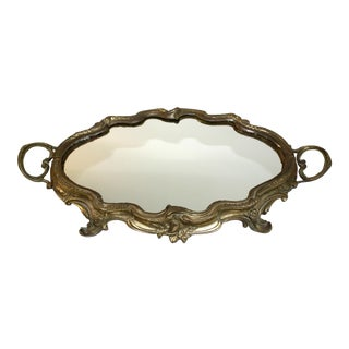 Antique French Louis XV Mirrored Tray
