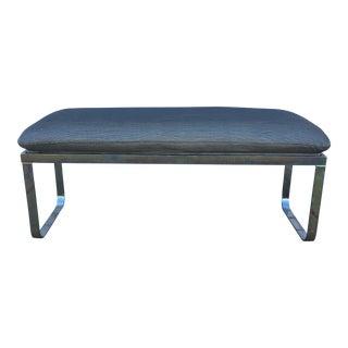 Milo Baughman Style Chrome Parsons Bench
