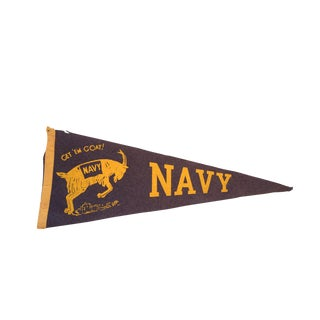 Navy with Get Em Goat Felt Flag