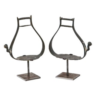 Russian Bronze Stirrups on later custom steel stands