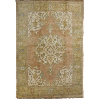 """Hand-Knotted Oushak Rug - 3'11""""x 5'8"""""""