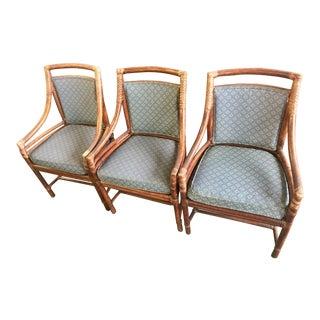 McGuire Handmade Cane Armchair - Set of 3