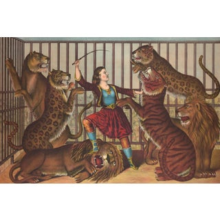"19th-C. ""The Lion Queen"" Circus Print"