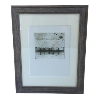 Shirley R Taylor Abstract Etching