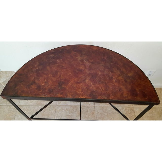 Iron & Acid Washed Copper Console Table - Image 5 of 7