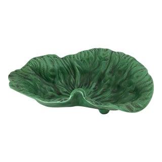 Vintage Portugese Green Lettuce Bowl