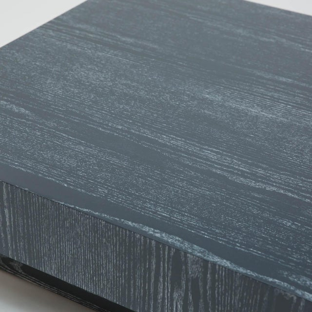 Modern Cerused Square Coffee Table - Image 4 of 9