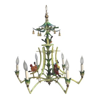 Victorian Monkey and Bamboo Chandelier